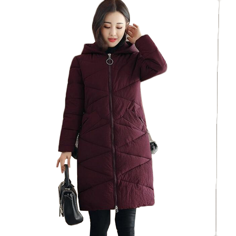 Plus size 4XL Winter Jacket Coat Women Clothes New Fashion Hooded Thicken Warm Down Cotton Jacket Outerwear Female   Parkas   AA299