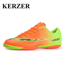 KERZER 2017 Soccer Shoes Original Football Cleats Men Kids Soccer Trainers For Artificial Turf Shoes Boys Children Trainers