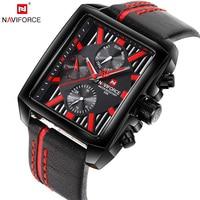NAVIFORCE Top Luxury Brand Men Quartz Watch Date Display Wristwatch Creative Square Saat Waterproof Male Clock