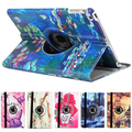 New Arrive 360 Rotating Cute Flower Butterfly Tablet Cover Flip Leather PU Case For Apple iPad 5 Air 1 Folding Case With Stand