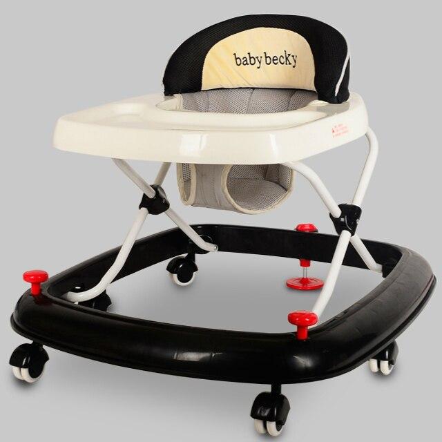 Alta Calidad Andador Multifuncional Anti Vuelco Primera Caminata Paso Caminar Aprendiendo de la Seguridad Del Coche Coche de Bebé Cochecito Andador C01