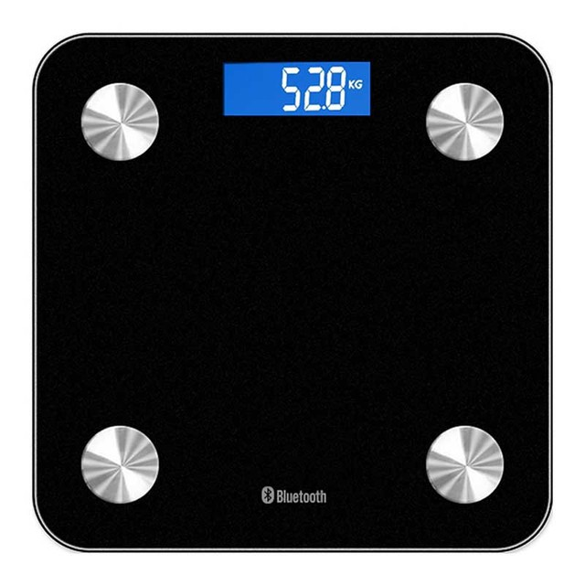 180kg Digital Body Fat Weight Scale Bluetooth Grams Waighing Measure Tools Lcd Electronic Bathroom Black White