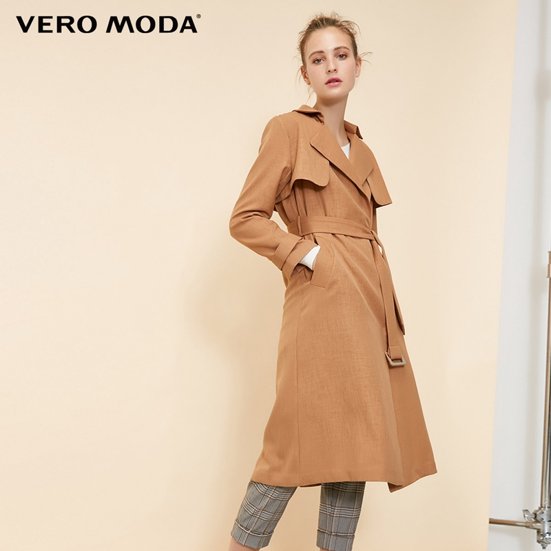 Vero Moda Women's Lace-up Concealed Buttons Lapel Minimalist Trench Coat | 318321537