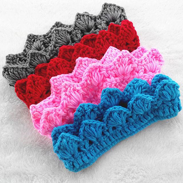 Baby Kids Girl Boy Headband Princess Crochet Crown Tiara Headband 2 ...