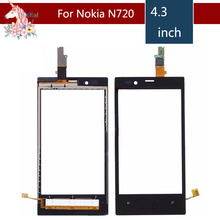 4.3 For Nokia Lumia 720 N720 LCD Touch Screen Digitizer Sensor Outer Glass Lens Panel Replacement 3 5 for nokia n8 n 8 lcd touch screen digitizer sensor outer glass lens panel replacement