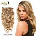 Alta calidad clip en extensiones de cabello Suave y Natural blcak brasileño Raw virgin hair body wave Barato clip en el cabello humano extensiones