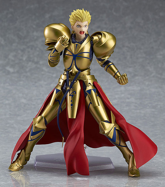 "Fate/stay Night figma 300# Fate Gilgamesh PVC Action Figure Collectible Model Christmas Gift Toy 5.5""15cm 4"