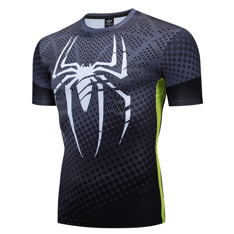 2019 New Spiderman Superhero 3D Compression Shirt Marvel Avengers Tshirts Men T-shirt Short Sleeve Halloween Cosplay Costume