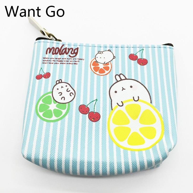 Want Go Fashion Women Coin Purses Sweet Cartoon Rabbit Coin Bag Zipper Mini Wallets Small Purse Portable Girls Card Storage Bag
