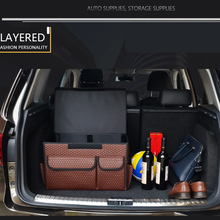 car trunk organizer auto organizer leather folding storage box auto accessories stowing tidying collapsible box