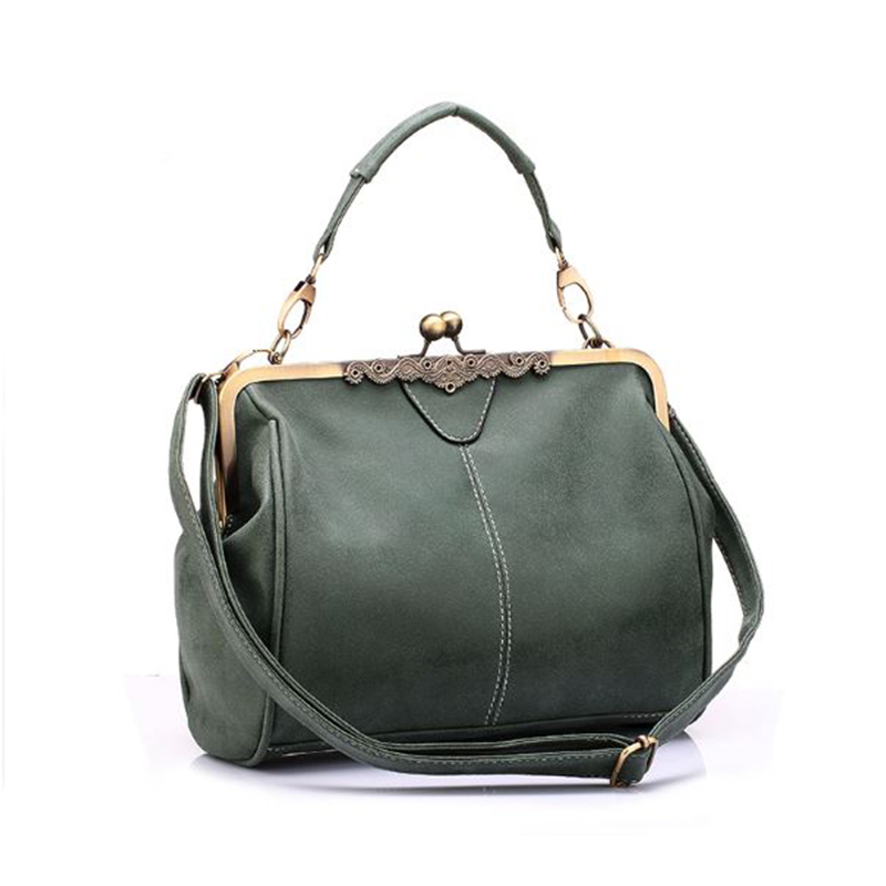 Vintage Women Messenger Bags Retro British Hardware Matte Women Handbag Crossbody Bag PU Leather Lady Tote Bag