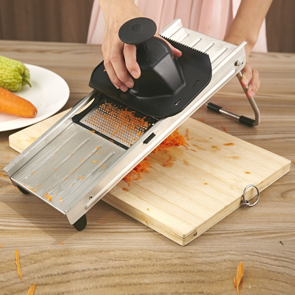 German Export Stainless Steel Muti functional Graters With Changable Blades Shredder Vegetable Slicer Cutting kitchen gadgets
