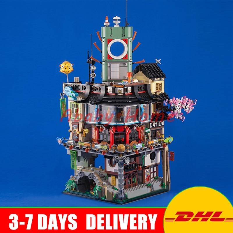 DHL LEPIN 06066 4953pcs Ninja Great City Construction Model Modular Building Blocks Teenagers Toys Bricks Compatible 70620