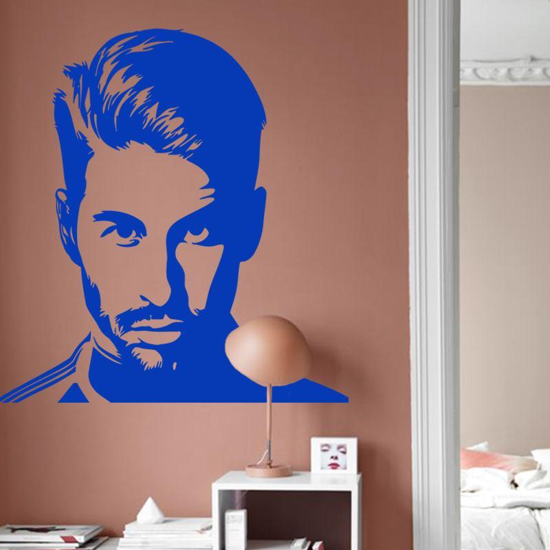 İncəsənət dizaynı ucuz vinil ev bəzək futbolu Sergio Ramos - Ev dekoru - Fotoqrafiya 5