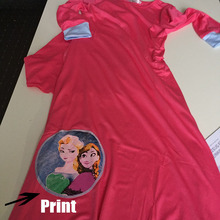 Traditional cartoon Kids clothing Fashion Child Abaya Muslim Girl dress