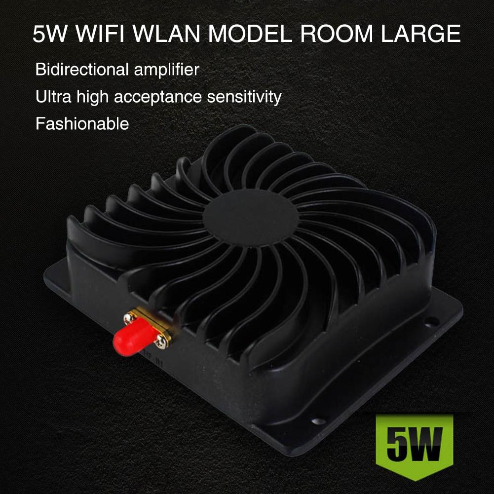 Amplificateur de puissance WIFI 5 W haute puissance Durable 2.4 GHz répéteur à faible bruit en aluminium amplificateur de Signal noir haut débit pour routeur sans fil