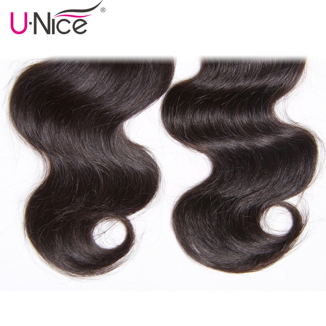 UNICE HAIR Brazilian Body Wave Hair Weave Bundles Natural Color Human Hair 1 Piece 8-30inch Can Mix Any Length Remy Hair Bundles