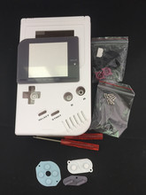 White Full Set classic Housing Shell Case Cover Repairt Parts For Gameboy GB Game Console for GBO DMG GBP W/ Buttons Screwdriver