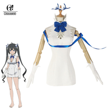 ROLECOS Anime Costume Hestia Cosplay Is It Wrong That I Want to Meet You in a Dungeon Women Sex Dress