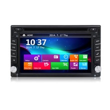 Free Shipping 2 Din Universal 6.2″ Touch Screen Car DVD Player GPS Navigation System Radio With CD MP4 MP3 Video Player BT RDS