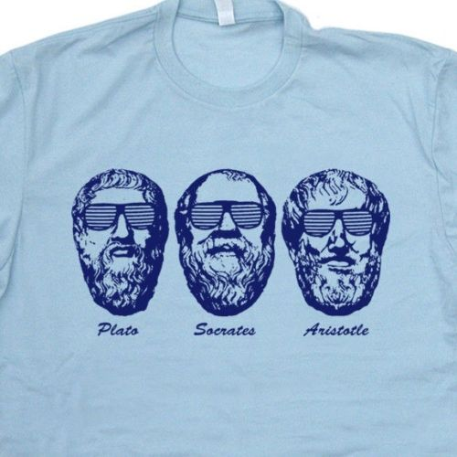 Us 1234 5 Offtops Cool T Shirt Socrates Plato Aristotle T Shirt Greek Philosophy Geek Sigmund Freud Funny Tee O Neck T Shirt Homme In T Shirts