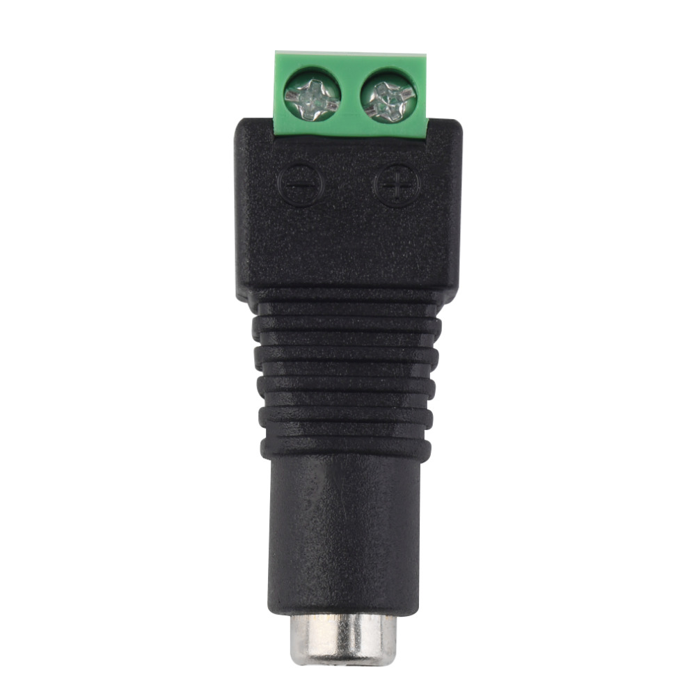 Hot 1Pcs 2.1 X 5.5mm DC Power Female Plug Jack Adapter Connector Plugs For CCTV LED Strip Light Eletronic New