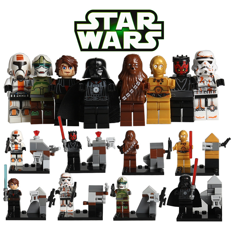 Star Wars Storm Clone Soldiers Troopers Darth Vader C3PO R2D2 BB8 Compatible With LegoINGlys Building Blocks Set Toys no 300pc 8 bb 3