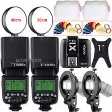 Godox TT685S 2.4G HSS TTL GN60 Flash Speedlite+X1T-S Trigger For Sony A58 A7RII A7II A99 A7R A6300 A6500 +Bowens S-Type Bracket hot sale godox x1t s ttl wireless trigger for sony dslr cameras a77ii a7rii a7r a58 a99 ilce6000l a6300 free gift