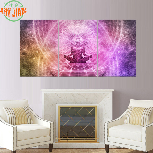 New 3 Piece/set Canvas Art HD Chakras Buddha Paintings on Canvas HD ...
