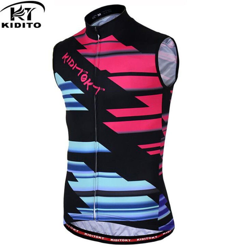 KIDITOKT Sleeveless Cycling Vests Jerseys Summer Breathable MTB Bicycle Clothes Bike vest Jersey Ropa Maillot Ciclismo Bike vest