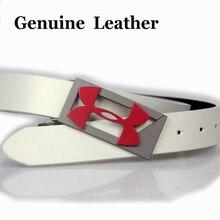 Неподдельный ремня логотип пряжки пояса под спорта кожаный пояс открытом воздухе