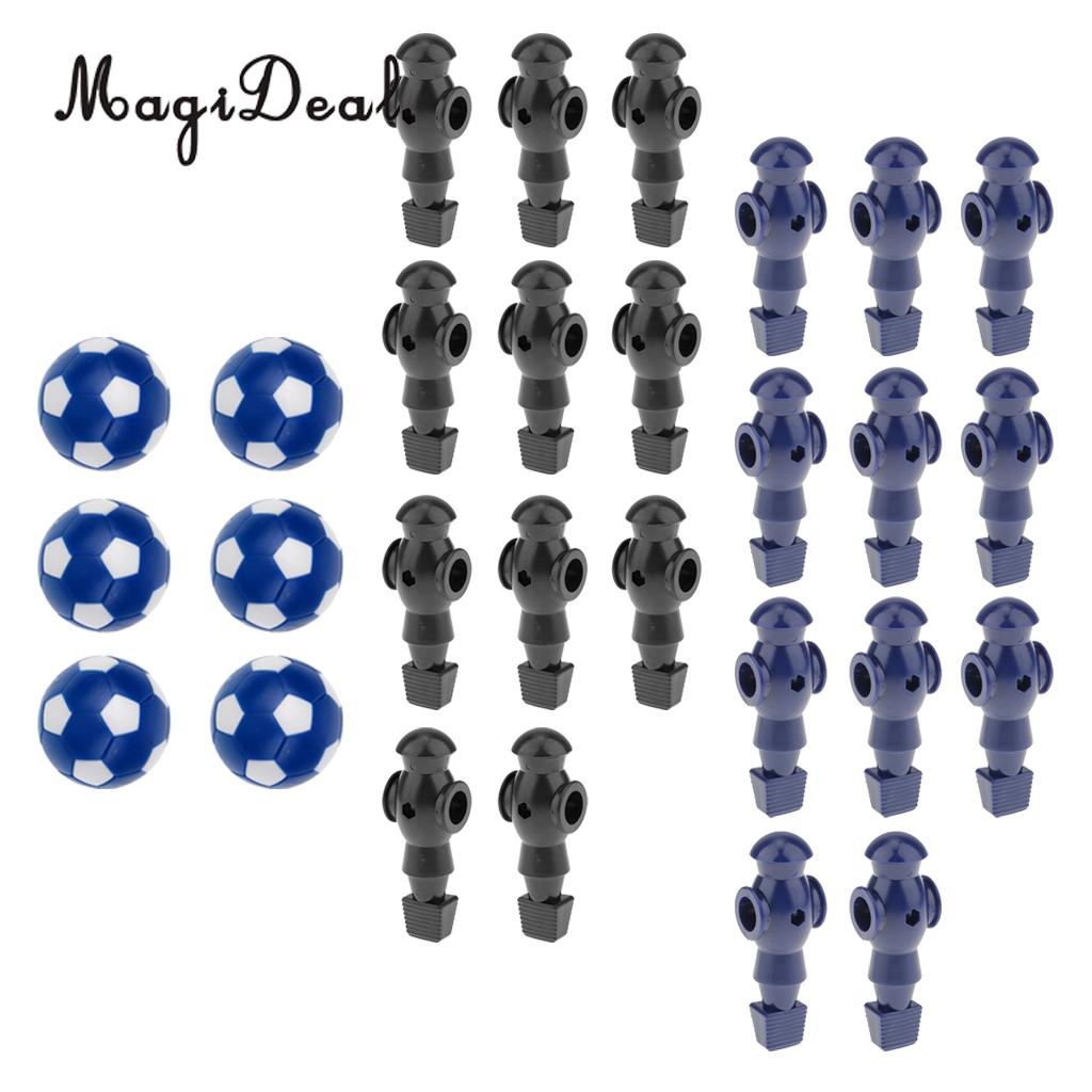 MagiDeal 22 Pcs 5/8 Foosball Man Table Soccer Player with 6 Pieces Foosball Balls