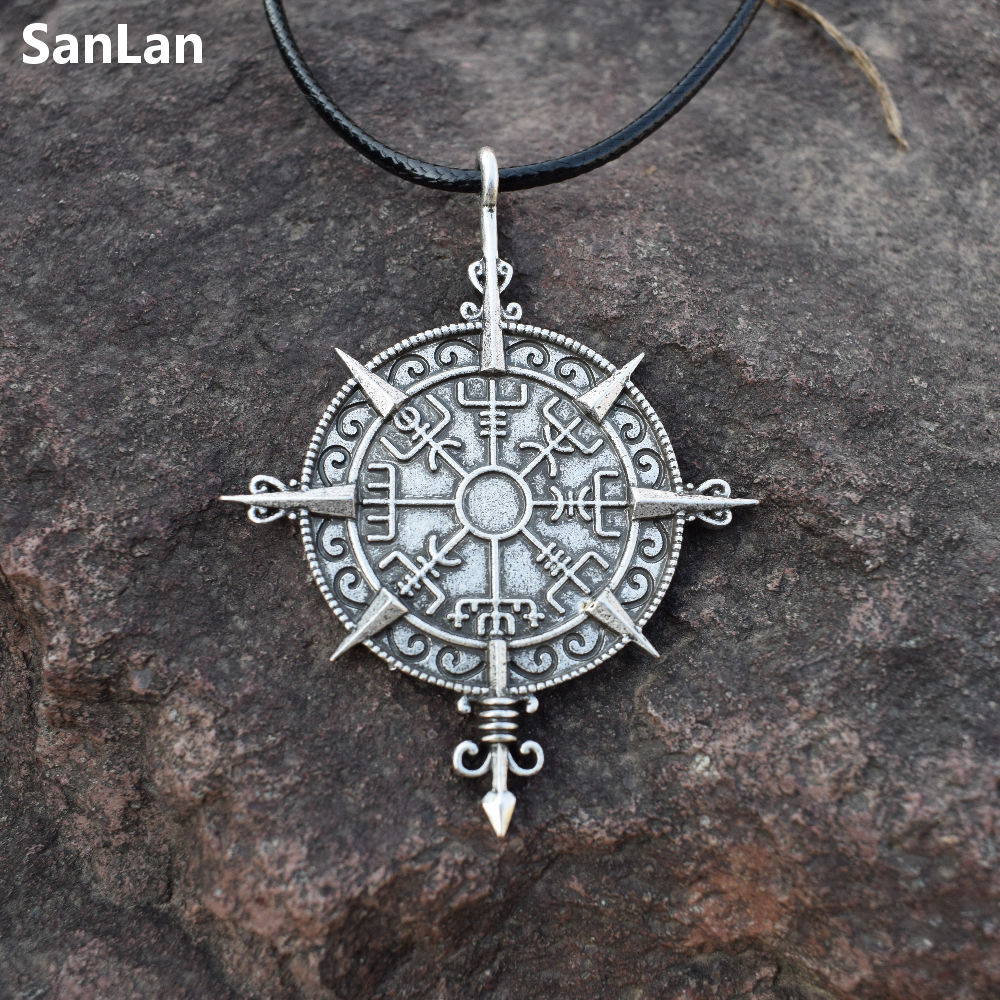 Viking Vegvisir Compass Protection Symbol Guidepost