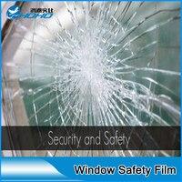 Toptan 1.52x10 m Temizle 2mil güvenlik filmi cam ile PET malzeme Güvenlik cam filmi için en iyi kaynağı