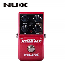 Nux Scream Bass Analog Overdrive Bass Effects Pedal True Bypass korg volca bass analog bass machine electribe inspired sequencer for the ultimate bass lines