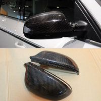 A4 B8 Carbon Fiber Car Styling Side Mirror Covers Mask for Audi A4 B8 stick style Free shipping