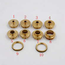 10PCS/set Brass Router Template Guide Bushings Engraving Machine Electric Router Copying Collar