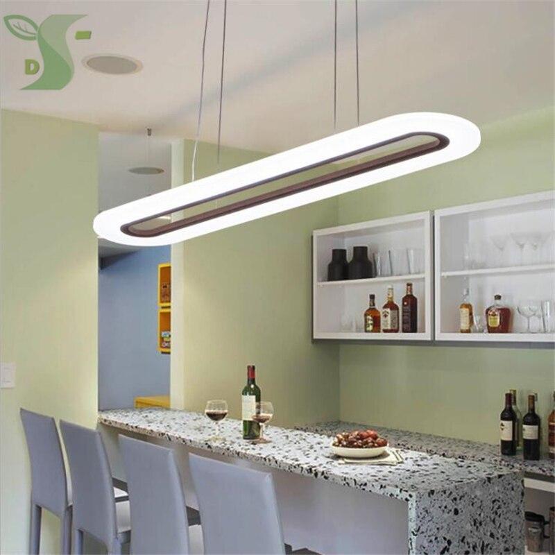 2 pcs combinaison LED lampes suspendues 30 w/40 w ovale Ultra-Mince Moderne AC85-265v dimmable Led Lumière pour Salon Chambre
