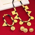 Triangel Jewelry New Design Ethiopian Jewelry Set Gold Plated 24K Eritrea Habesha Ethiopia Jewellery Wedding Gift
