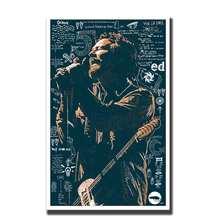 Художественный плакат eddie vedder music singers rock Wall холст печать Современная живопись Домашний декор 14x21 12x18 24x36 27x40