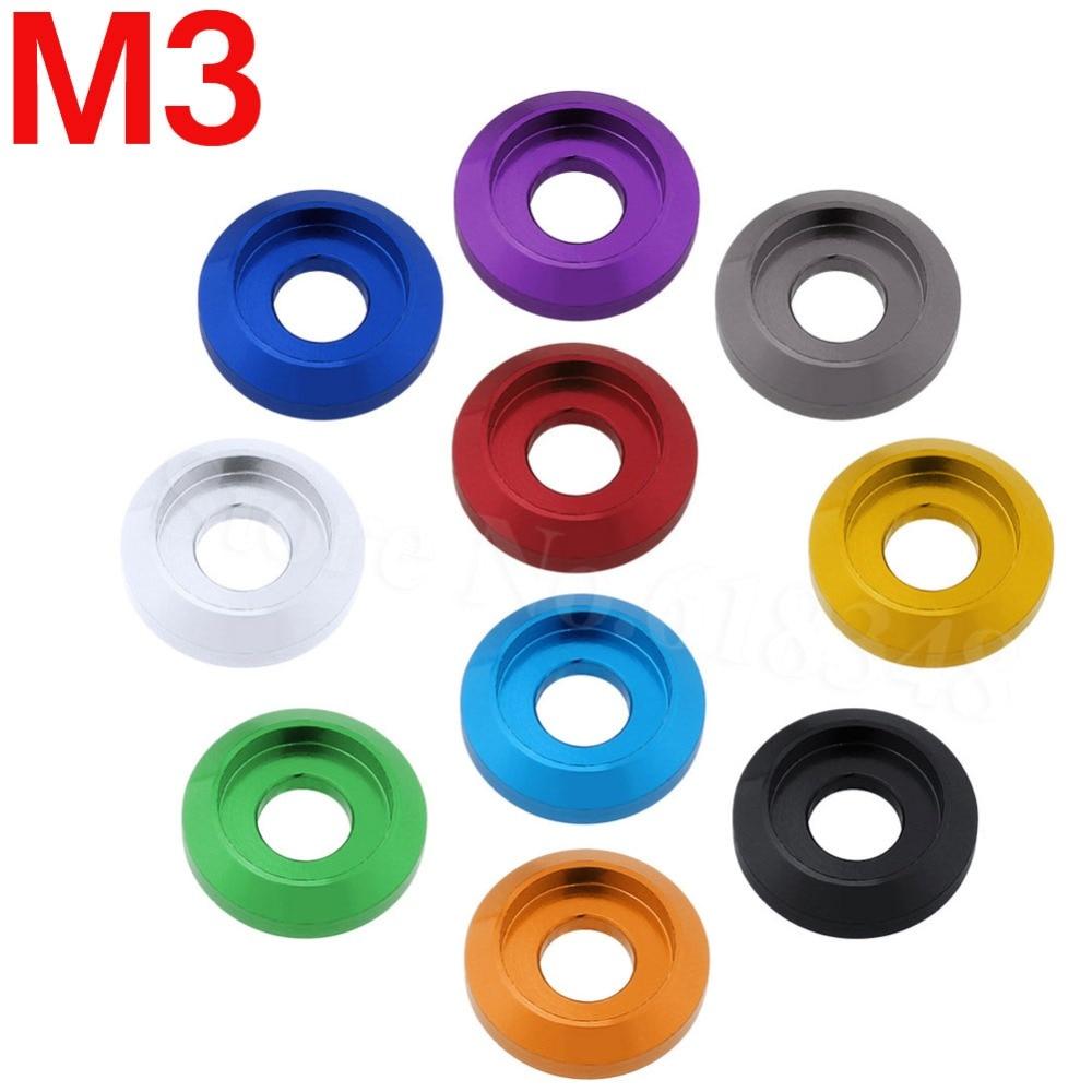 8pcs Multicolour M3 Screws Washers Bolts Cap Head Pan Head Aluminum Anodized Hardware For RC Cars Quadcopter Replacement Parts