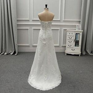 Image 4 - Fansmile جديد فاخر خمر الدانتيل 2 في 1 فستان الزفاف 2020 الكرة ثوب الأميرة الزفاف فساتين الزفاف Vestido De Noiva FSM 554T
