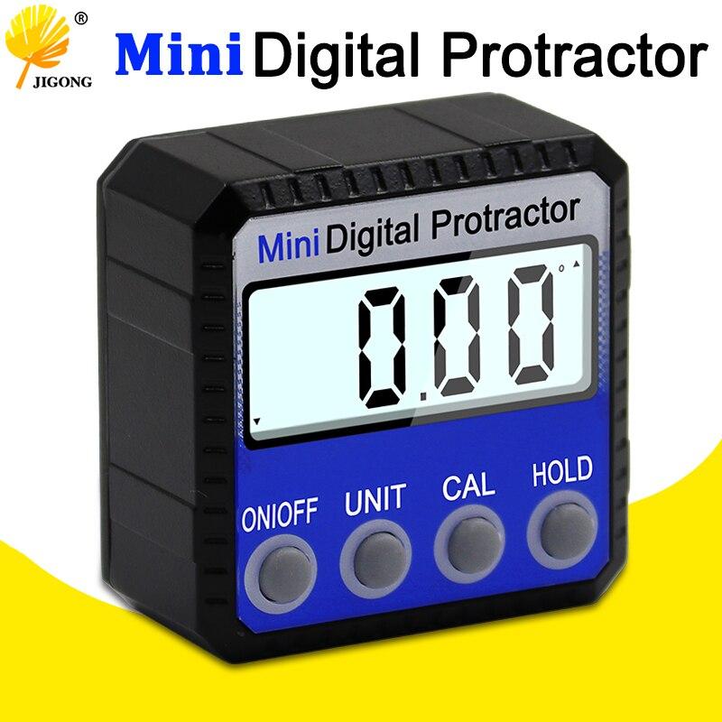 Transportador Digital nivel del inclinómetro Caja impermeable ángulo de medida bisel caja goniómetro imán de regla