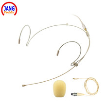 Professional Headset / Headworn Beige Microphone for AKG Samson Wireless - Transmitter Microdot Detachable Cable Free Shipping