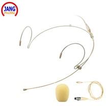 лучшая цена Professional Headset / Headworn Beige Microphone for AKG Samson Wireless - Transmitter Microdot Detachable Cable Free Shipping