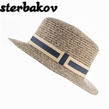 Sterbakov fashion brand summer pure color beach hat straw hat men and women safe sun hat