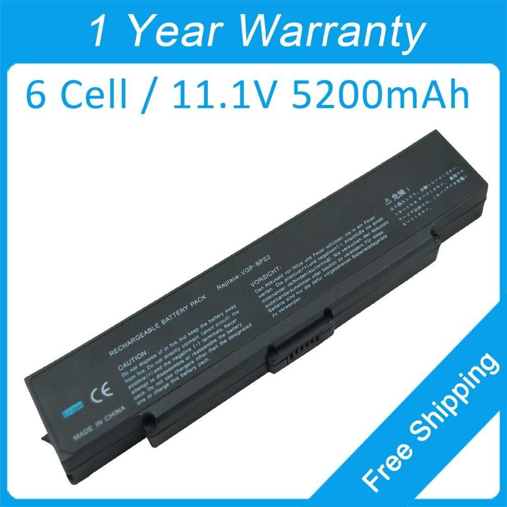 5200mah laptop battery VGP-BPS2 VGP-BPL2.CE7 for sony VAIO VGN-C190CP/P VGN-FS315B VGN-FS70B VGN-S360P VGN-N29VN/B VGN-SZ170P/C