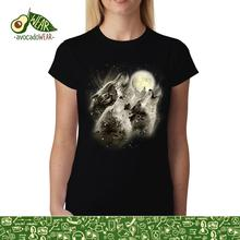 Wolf Howl Full Moon Women T-shirt S-3XL NewStreetwear Funny Print Clothing Hip-Tope Mans T-Shirt Tops Tees Hot Sale Men T Shirt