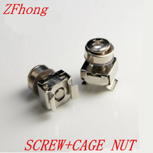 M5 M6 Cage Nut With  Crown Screw Captive Nuts Server Rack Mount Nut Steel Nickel plated