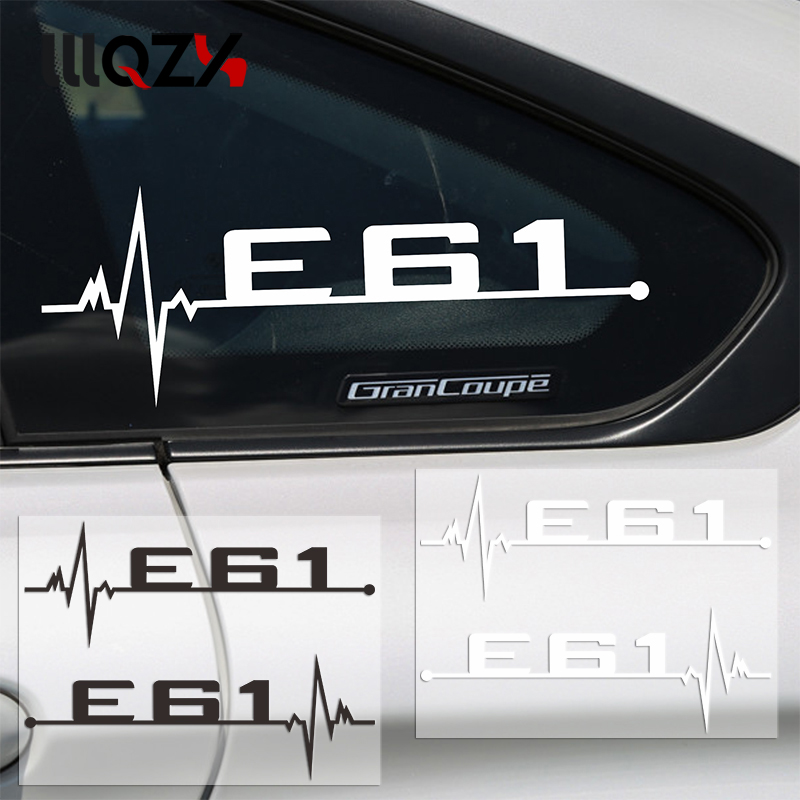 2pcs/lot M Power Performance Car Windows Sticker E28 E30 E34 E36 E39 E46 E60 E61 E62 E90 E91 E92 LOGO For BMW Car Accessories